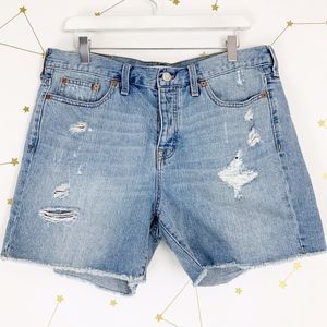 Madewell • Distressed High Rise Cut Off Shorts